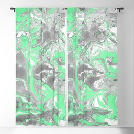 Light green and gray Marble texture acrylic paint art Blackout Curtain