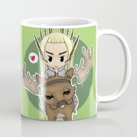 thranduil Mugs featuring  Thranduil by YattaGiulia