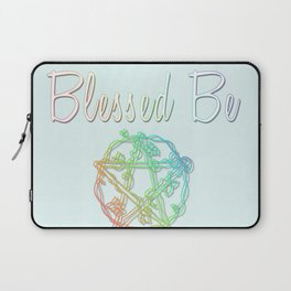 Blessed be with pentacle Laptop Sleeve