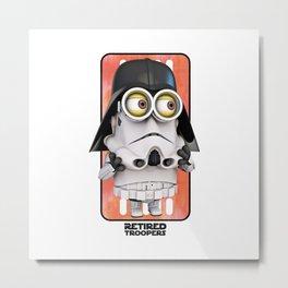 Minion Vader II Metal Print
