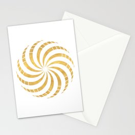GOLD TORUS circular sacred geometry Stationery Cards