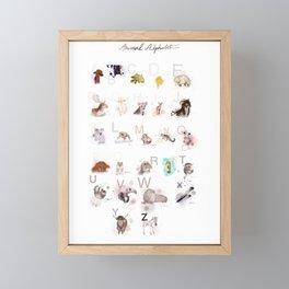 animal alphabet Framed Mini Art Print