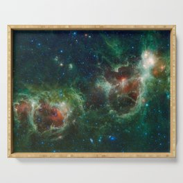 Hubble Space Photograph - Heart and Soul Nebulae Serving Tray