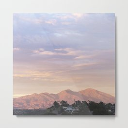 Sunset over Saddleback Mountain Metal Print