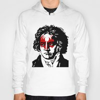beethoven Hoodies featuring Beethoven Rock by futbolko