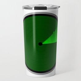 Radar Screen With A Green UFO Dot Travel Mug
