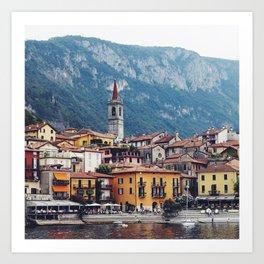 Lake Como by Boat Art Print