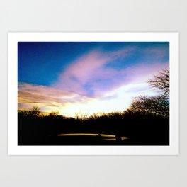 Blue Sunset Art Print