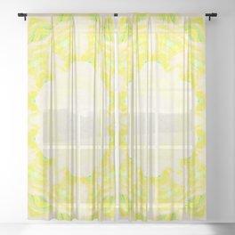neon green awakening Sheer Curtain
