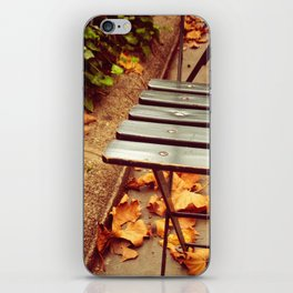 bryant park cafe chair iPhone Skin