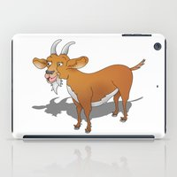 goat iPad Cases featuring Goat by mailboxdisco