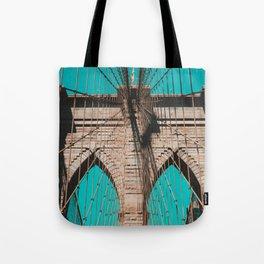 Pop art, Brooklyn bridge photo, New York City, fine art photography, I love NYC Tote Bag