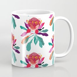 Waratah Pattern; Botanical; Floral Print; Australian Native Plant Coffee Mug
