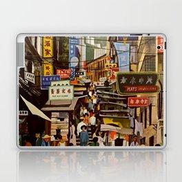 Vintage Hong Kong Travel Poster Laptop & iPad Skin