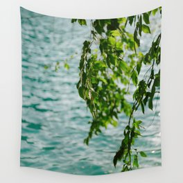 Plitvice lake detail | Botanical nature photography in Croatia Wall Tapestry