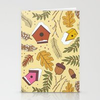 70s Stationery Cards featuring 70s Woodland by Aron Gelineau