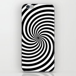 Black And White Op Art Spiral iPhone Skin