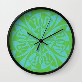 Think Mandala - Green Blue Wall Clock