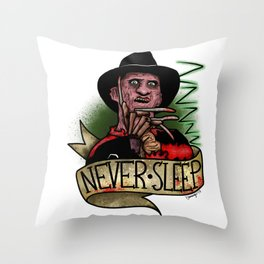 Never Sleep Throw Pillow