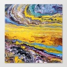 African landscape, acrylic on canvas Canvas Print