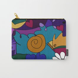 """""""Before the Celebration"""" bold, colorful doodle art Carry-All Pouch"""