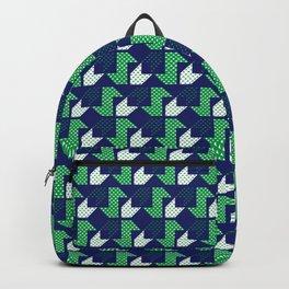 Clover&Nessie Denim/Spinach Backpack