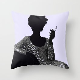 Woman Femme Fatale Luna 1960 Throw Pillow