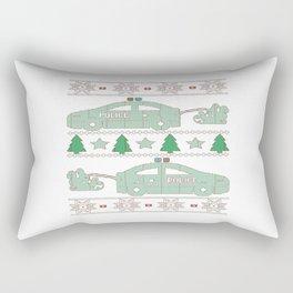 Police Christmas Rectangular Pillow