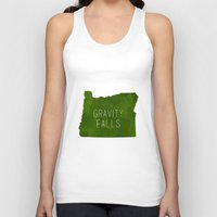 gravity falls Tank Tops featuring Gravity Falls by pondlifeforme