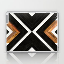 Urban Tribal Pattern 1 - Concrete and Wood Laptop & iPad Skin