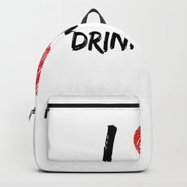 I Love Drink Water Backpack