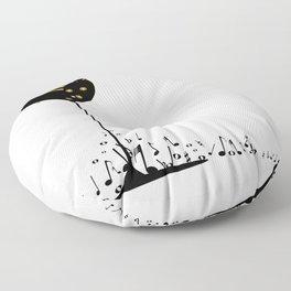 Flowing Music Floor Pillow