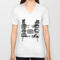 ice cream V-neck T-shirts featuring Ice Cream by DIVIDUS