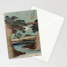 Saruhashi Bridge in Kai Province Japan Stationery Cards