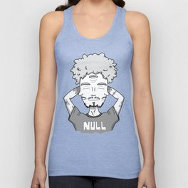 When the third eye is closed too, you are null. Unisex Tank Top