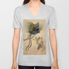 """The Beautiful Bird of Paradise"" Art by Warwick Goble Unisex V-Neck"