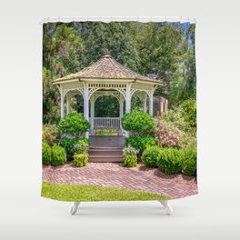 Gazebo Gardens Shower Curtain