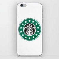 starbucks iPhone & iPod Skins featuring starbucks parody by Cream5