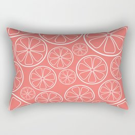 Citrus Slices (Pantone Living Coral) Rectangular Pillow