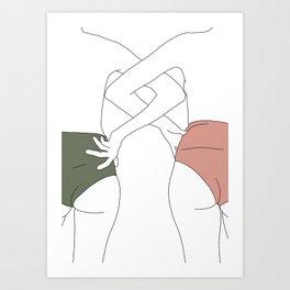 Figures line drawing - Elinor Kunstdrucke