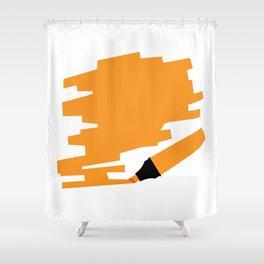 Orange Marker Copy Space Shower Curtain