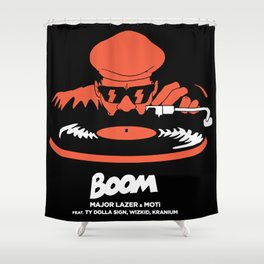 boom major lazer Shower Curtain