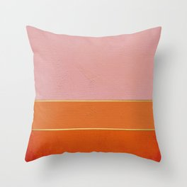 Orange, Pink And Gold Abstract Painting Throw Pillow