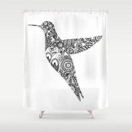 The humming bird Shower Curtain