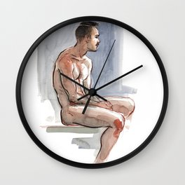 JORDAN, Nude Male by Frank-Joseph Wall Clock