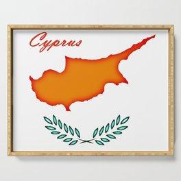 Cyprus flag Serving Tray