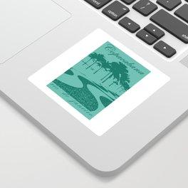 Copacabana beach, green Sticker