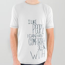 Comfortable Silence All Over Graphic Tee