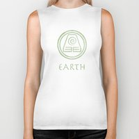 the last airbender Biker Tanks featuring Avatar Last Airbender Elements - Earth by bdubzgear
