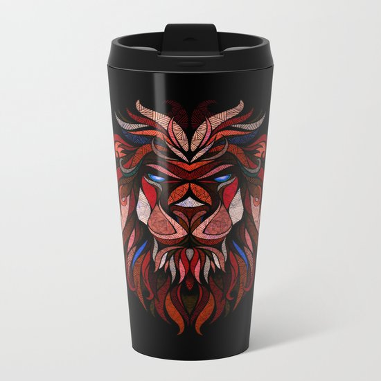 Red Lion Metal Travel Mug